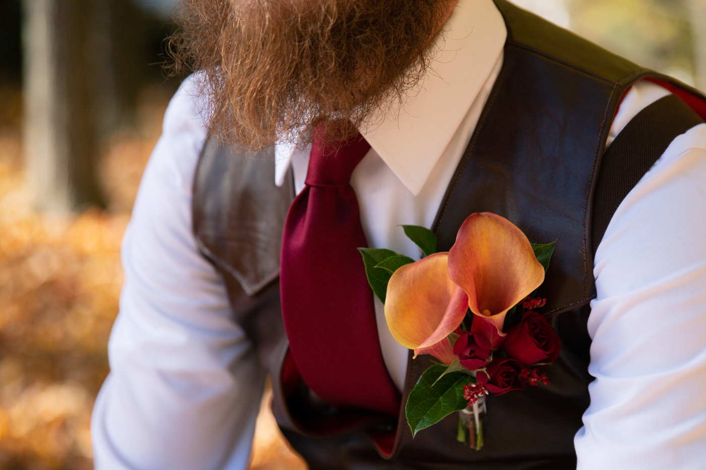 Fall Groom Boutonniere
